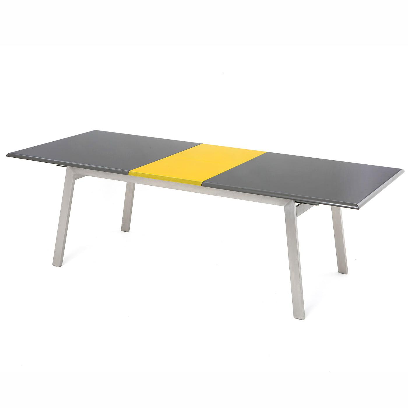 Coffee Table Extendable Legs: Vestina Extendable Grey/Yellow High Gloss Table