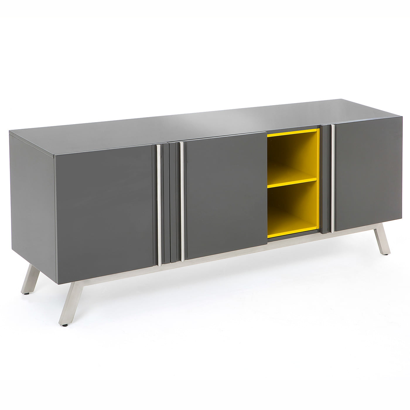 Vestina Greyyellow High Gloss Large Sideboard on furniture desks