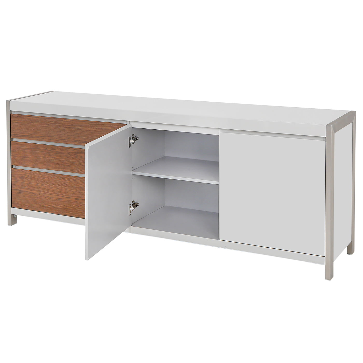Dolcedo Grey High Gloss Sideboard Redtree Furniture