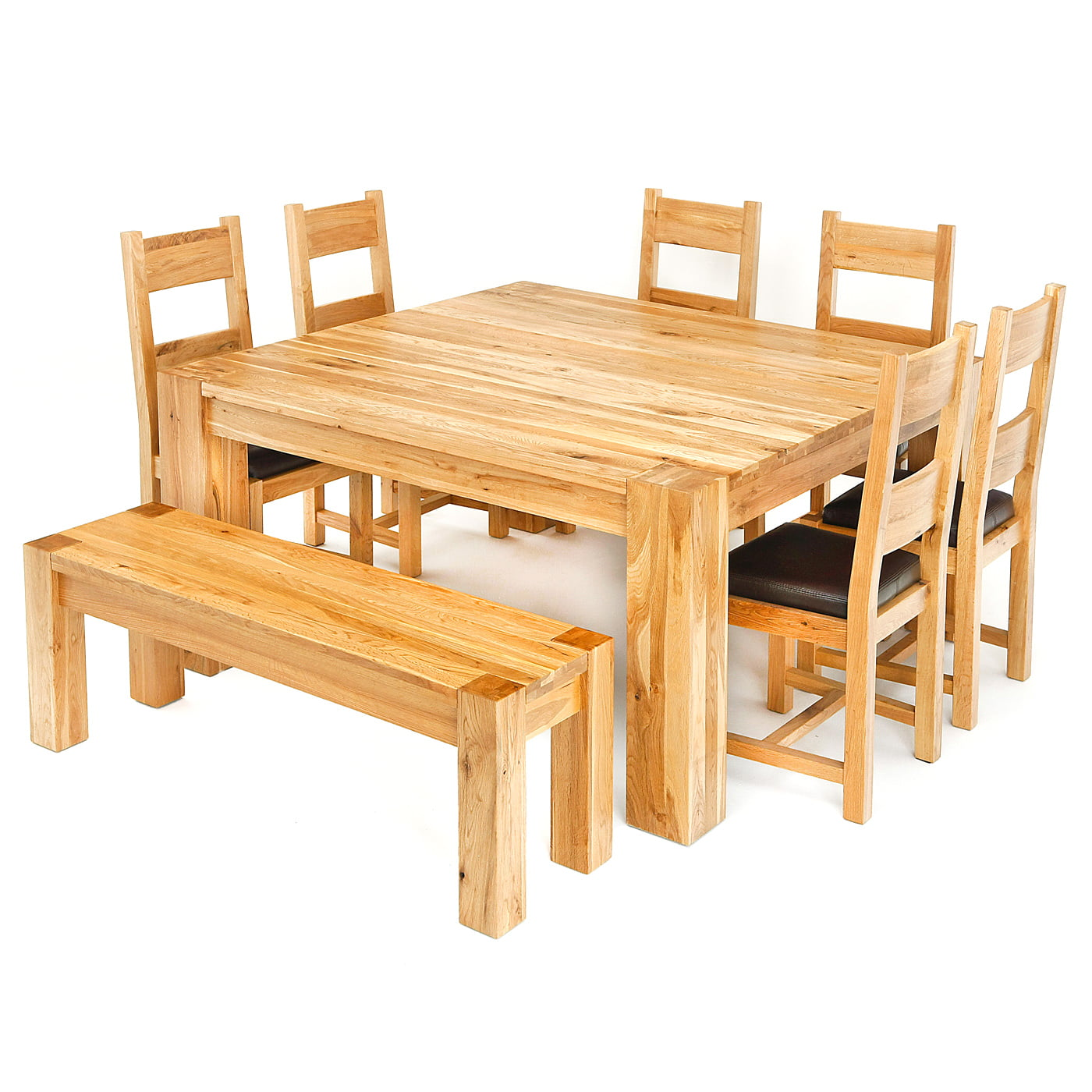 Lincoln 15m solid oak square dining table redtree furniture oak square dining table lincoln 15m sq table2 watchthetrailerfo